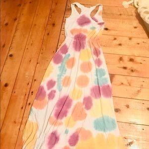 Alternative tie dyed maxi dress